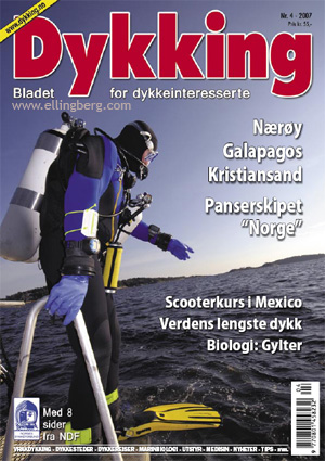 Frontpage to the Norwegian dive magazine